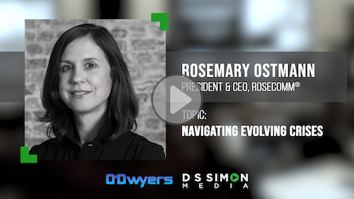 O'Dwyer's/DS Simon Video Interview Series: Rosemary Ostmann, President & CEO, Rosecomm