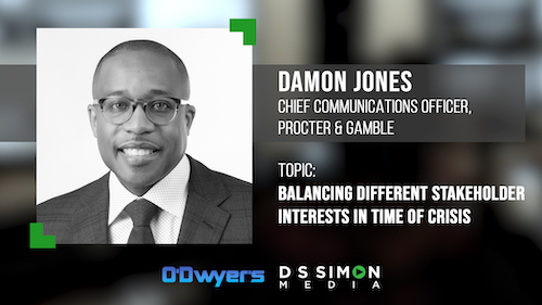 O'Dwyer's/DS Simon Video Interview Series: Damon Jones, Chief Communications Officer, Procter & Gamble