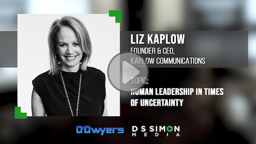 O'Dwyer's/DS Simon Video Interview Series: Liz Kaplow, Founder & CEO, Kaplow Communications