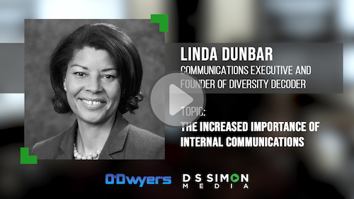 O'Dwyer's/DS Simon Video Interview Series: Linda Dunbar, Comms. Executive & Founder of Diversity Decoder