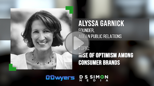 O'Dwyer's/DS Simon Video Interview Series: Alyssa Garnick, Founder, Agean Public Relations