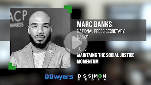 O'Dwyer's/DS Simon Video Interview Series: Marc Banks, Nat'l Press Secretary, NAACP