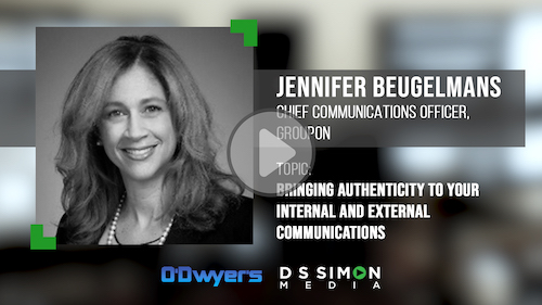 O'Dwyer's/DS Simon Video Interview Series: Jennifer Beugelmans, Chief Comms. Officer, Groupon