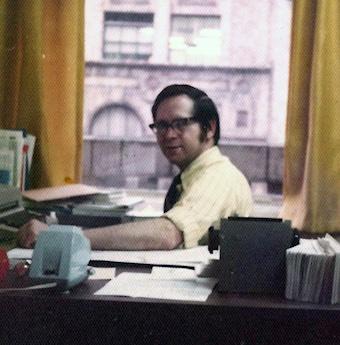 Jack O'Dwyer at his desk