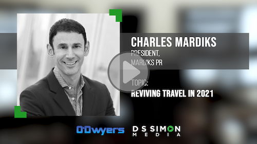 O'Dwyer's/DS Simon Video Interview Series: Charles Mardiks, President, Mardiks PR