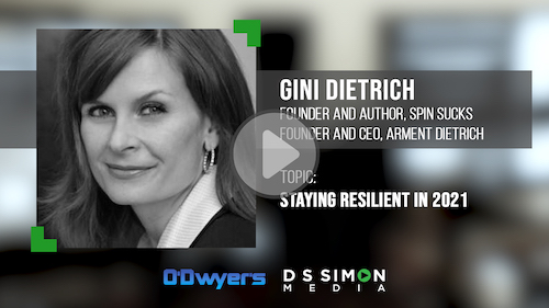 O'Dwyer's/DS Simon Video Interview Series: Gini Dietrich, Founder & CEO, Arment Dietrich