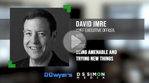 O'Dwyer's/DS Simon Video Interview Series: David Imre, CEO, imre