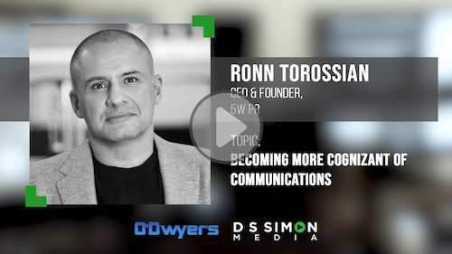 O'Dwyer's/DS Simon Video Interview Series: Ronn Torossian, CEO & Founder, 5W PR