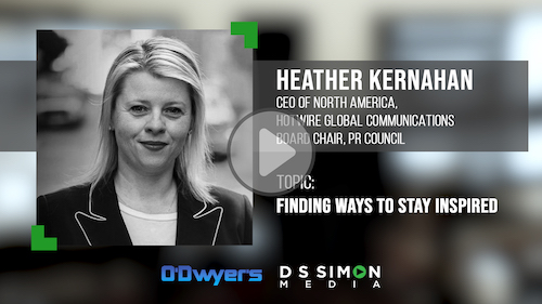 O'Dwyer's/DS Simon Video Interview Series: Heather Kernahan, CEO of North America, Hotwire Global Communications