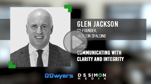 O'Dwyer's/DS Simon Video Interview Series: Glen Jackson, Co-Founder, Jackson Spalding