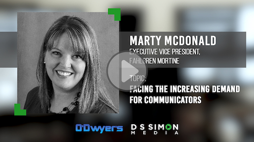 O'Dwyer's/DS Simon Video Interview Series: Marty Mcdonald, Exec. VP, Fahlgren Mortine