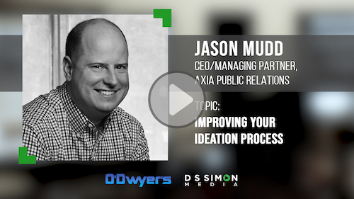 O'Dwyer's/DS Simon Video Interview Series: Jason Mudd, CEO/Mng. Partner, Axia Public Relations