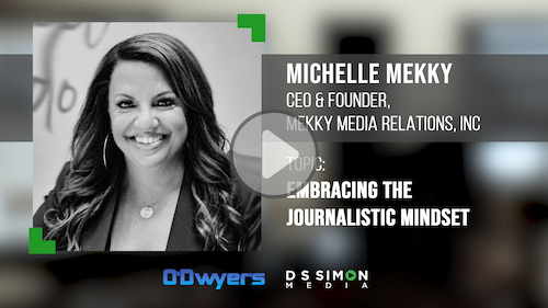 O'Dwyer's/DS Simon Video Interview Series: Michelle Mekky, CEO & Founder, Mekky Media Relations, Inc.