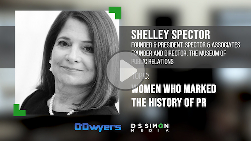 O'Dwyer's/DS Simon Video Interview Series: Shelley Spector, Founder & Director, The Museum of Public Relations