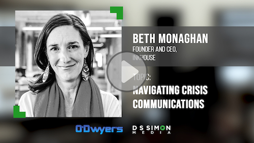 O'Dwyer's/DS Simon Video Interview Series: Beth Monaghan, Founder & CEO, Inkhouse