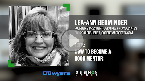 O'Dwyer's/DS Simon Video Interview Series: Lea-Ann Germinder, Founder & Pres., Germinder + Associates