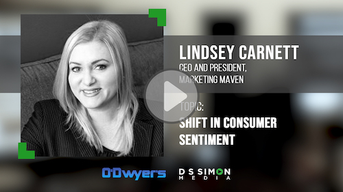O'Dwyer's/DS Simon Video Interview Series: Lindsey Carnett, CEO & Pres., Marketing Maven