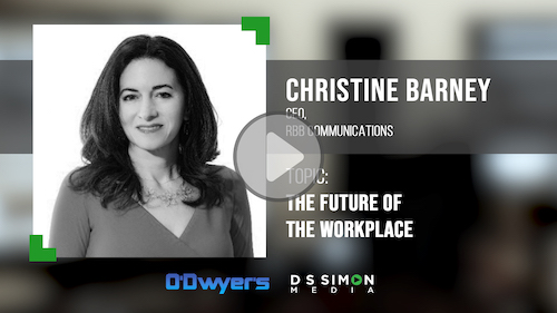 O'Dwyer's/DS Simon Video Interview Series: Christine Barney, CEO, RBB Communications