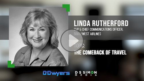 O'Dwyer's/DS Simon Video Interview Series: Linda Rutherford, SVP & Chief Comms. Officer, Southwest Airlines