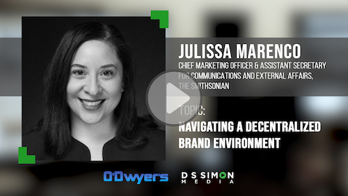 O'Dwyer's/DS Simon Video Interview Series: Julissa Marenco, CMO, The Smithsonian
