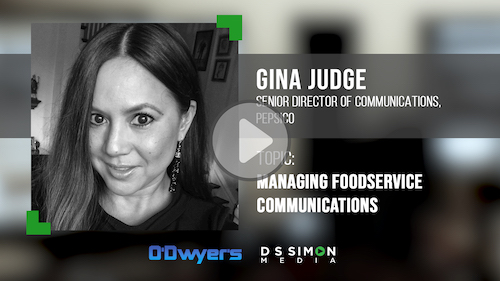 O'Dwyer's/DS Simon Video Interview Series: Gina Judge, Sr. Dir. of Communications, PepsiCo