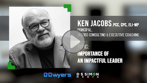O'Dwyer's/DS Simon Video Interview Series: Ken Jacobs, Principal, Jacobs Consulting & Executive Coaching