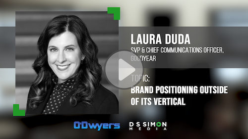 O'Dwyer's/DS Simon Video Interview Series: Laura Duda, SVP & Chief Comms. Officer, Goodyear