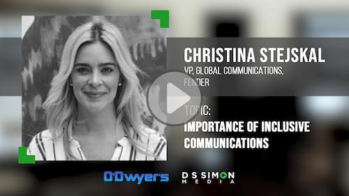 O'Dwyer's/DS Simon Video Interview Series: Christina Stejskal, VP, Global Comms., Fender