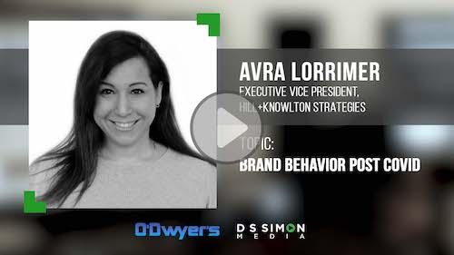 O'Dwyer's/DS Simon Video Interview Series: Avra Lorrimer, Exec. VP, Hill+Knowlton Strategies