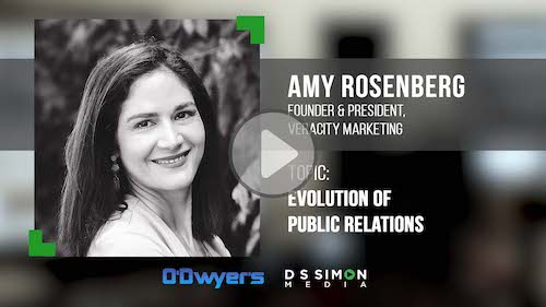 O'Dwyer's/DS Simon Video Interview Series: Amy Rosenberg, Founder & President, Veracity Marketing