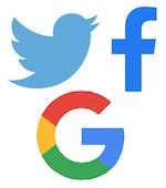 Twitter, Facebook & Google
