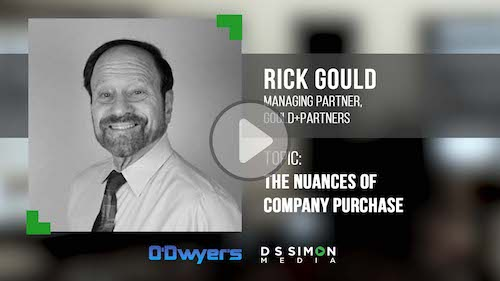 O'Dwyer's/DS Simon Video Interview Series: Rick Gould, Managing Partner, Gould+Partners