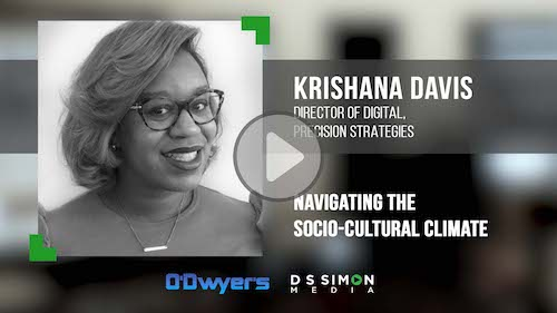 O'Dwyer's/DS Simon Video Interview Series: Krishana Davis, Dir. of Digital, Precision Strategies