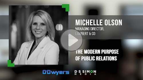O'Dwyer's/DS Simon Video Interview Series: Michelle Olson, Mng. Dir., Lambert & Co.