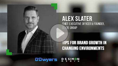 O'Dwyer's/DS Simon Video Interview Series: Alex Slater, CEO & Founder, Clyde Group