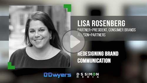 O'Dwyer's/DS Simon Video Interview Series: Lisa Rosenberg, Partner + Pres. Consumer Brands, Allison+Partners