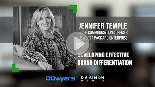 O'Dwyer's/DS Simon Video Interview Series: Jennifer Temple, Chief Comms. Officer, Hewlett Packard Enterprise