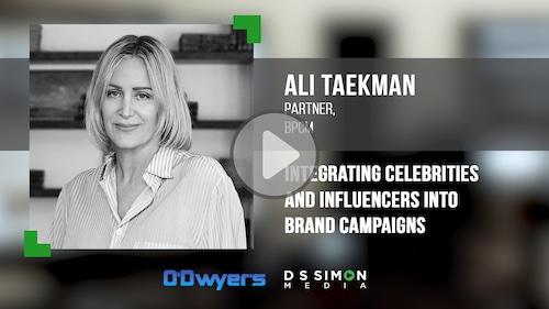 O'Dwyer's/DS Simon Video Interview Series: Ali Taekman, Partner, BPCM