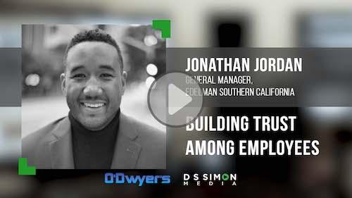 O'Dwyer's/DS Simon Video Interview Series: Jonathan Jordan, Gen. Mgr. Edelman Southern California