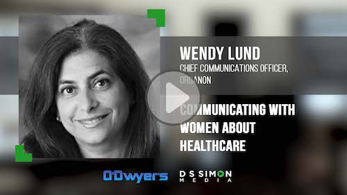 O'Dwyer's/DS Simon Video Interview Series: Wendy Lund, Chief Comms. Officer, Organon