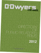 2011 O'Dwyer's Directory of PR Firms